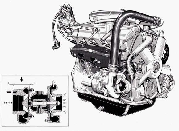 Original 1973 Diagram Of The Bmw 2002 Turbo Engine Iedei