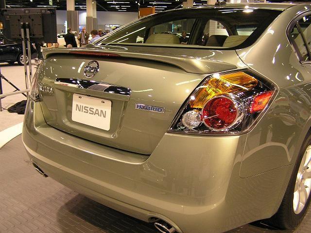 2007 Nissan Altima Rear Closeup