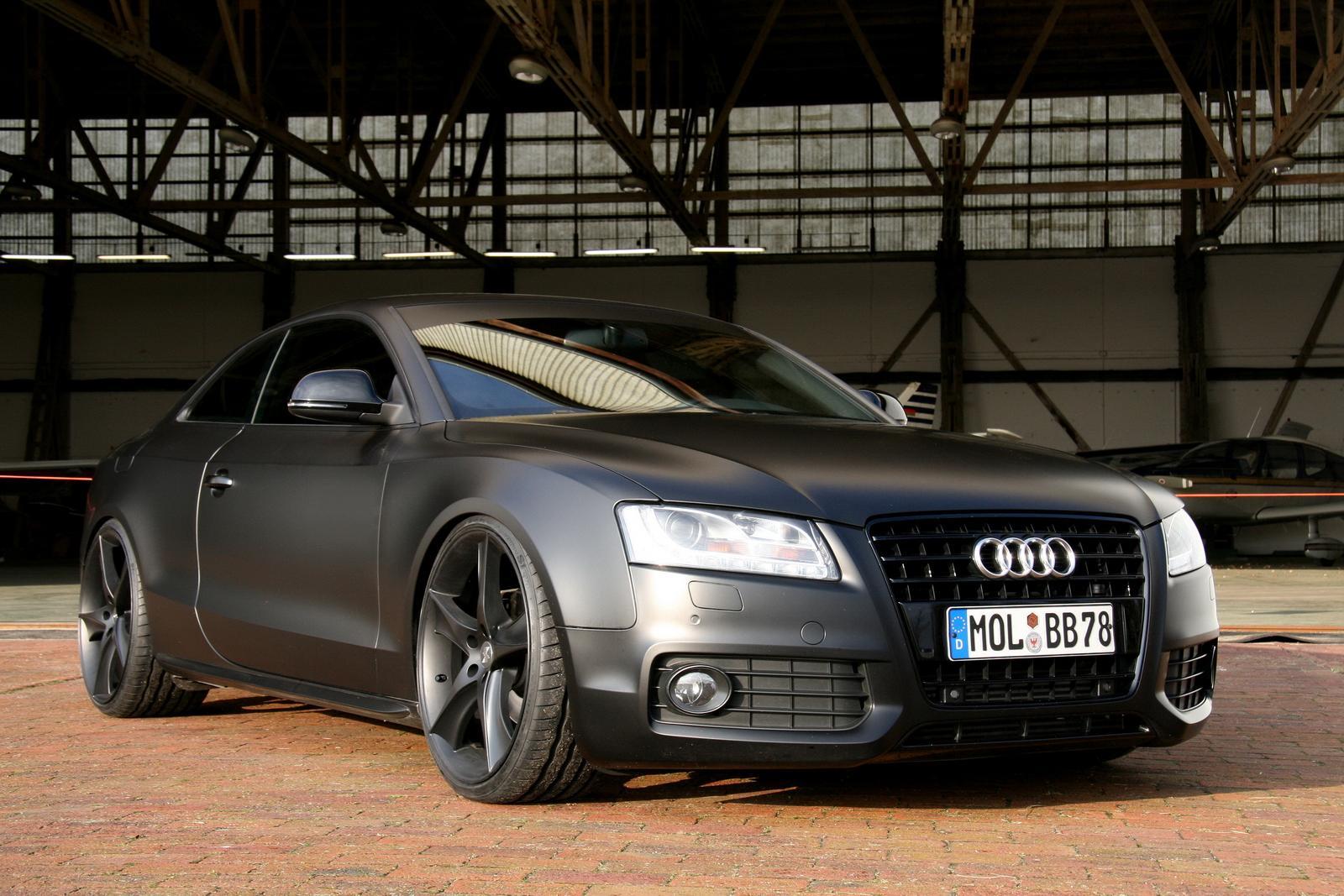 Matte Black Audi A5 Iedei