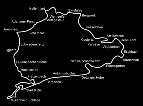 VWVortexcom What Is It About The Nürburgring - Germany map nurburgring