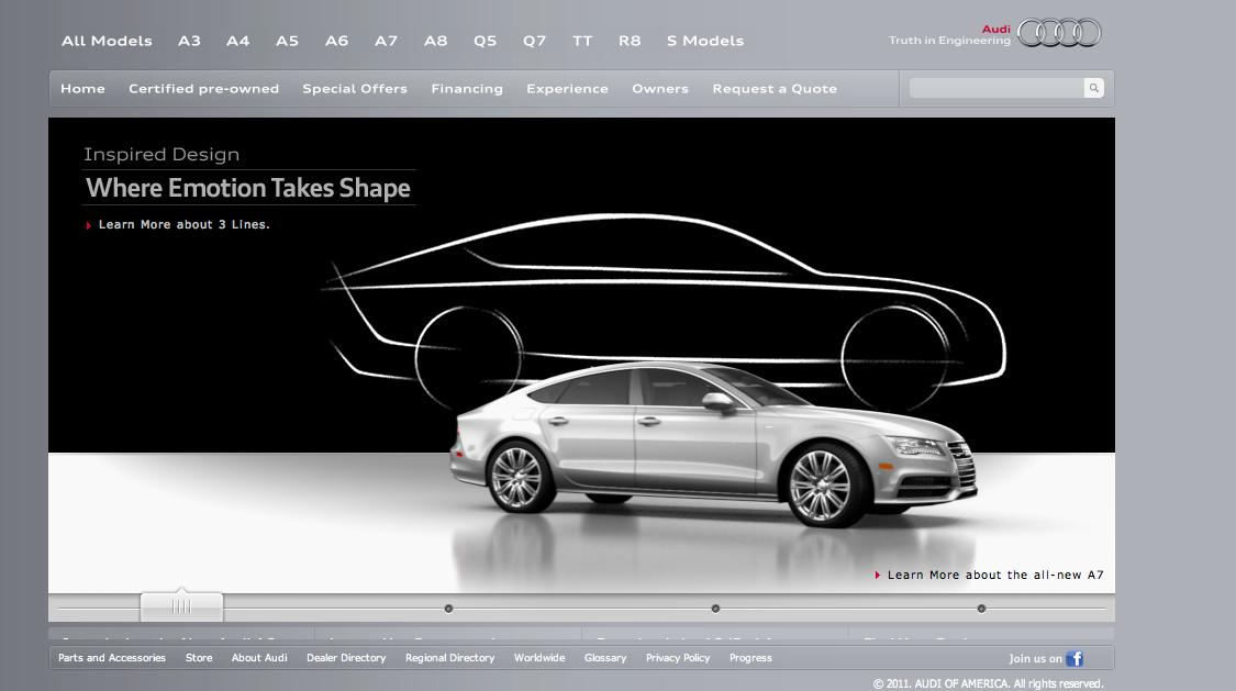 German Car Company Websites IEDEI - Audi car official website