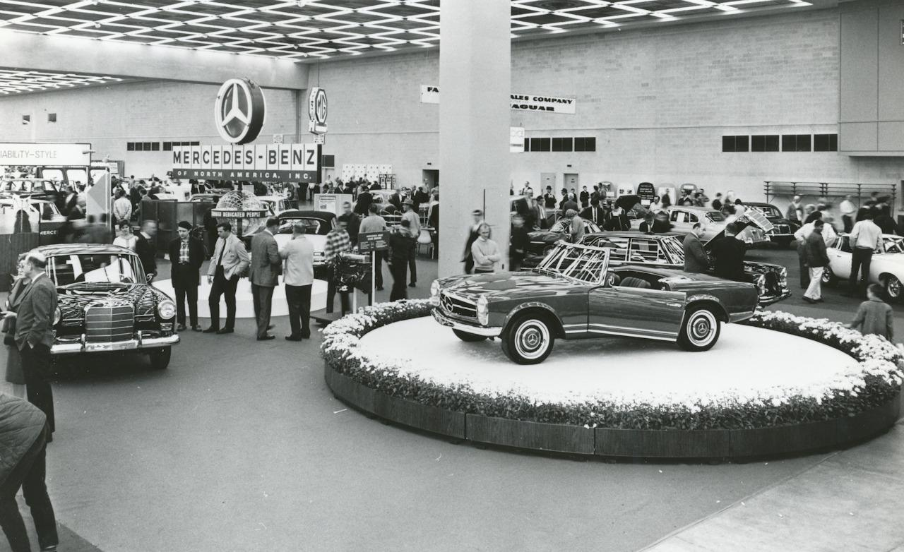 A Mercedes Sl At The 1967 Detroit Auto Show It May Be The