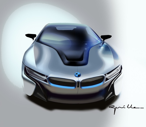bmw-i8-drawing